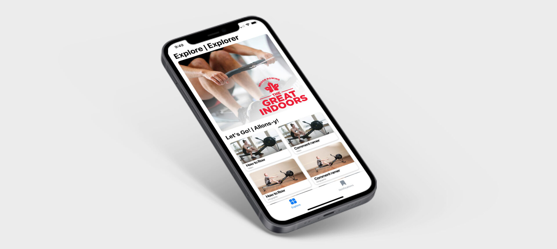 RCA indoor rowing app now available
